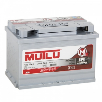 Автомобильный аккумулятор АКБ MUTLU (Мутлу)  L3.75.072.A SMF 57512 75Ач О.П.
