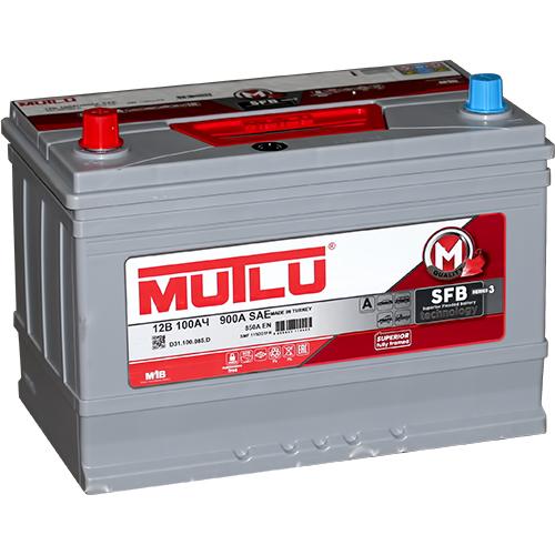 Автомобильный аккумулятор АКБ MUTLU (Мутлу) D31.100.085.D SMF 115D31FR 100Ач П.П. нижнее крепление