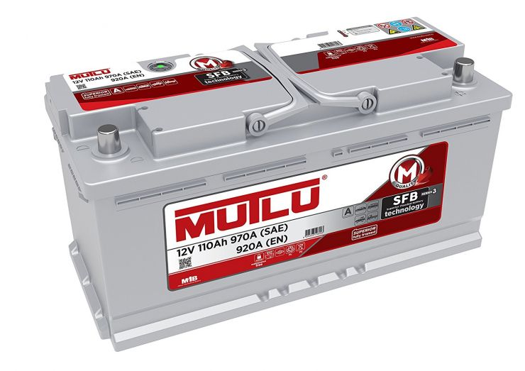 Автомобильный аккумулятор АКБ MUTLU (Мутлу)  L6.110.092.A SMF 61045 110Ач О.П.