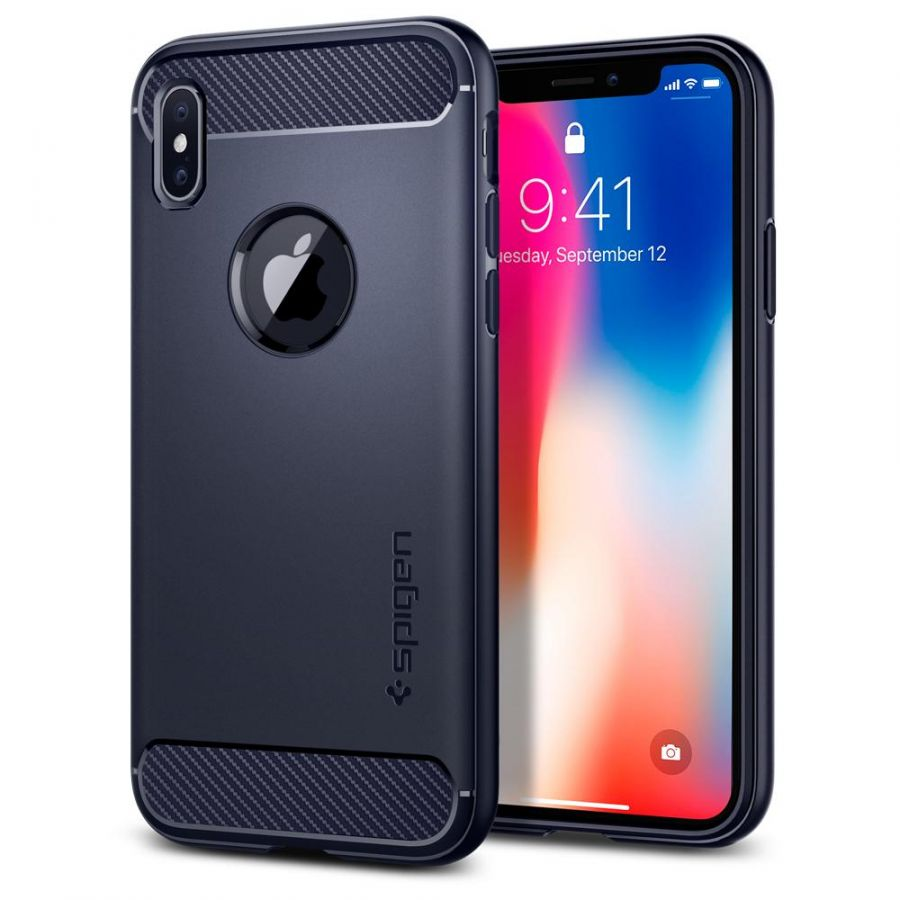 Чехол SGP Spigen Rugged Armor для iPhone X синий