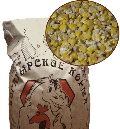 Микронизированная плющеная кукуруза 20 кг. Богатырские корма