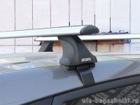 Багажник на крышу Hyundai ix35, без рейлингов, Атлант, крыловидные дуги, опора Е