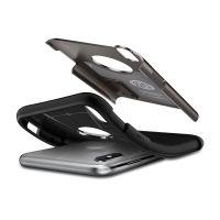 Чехол Spigen Slim Armor для iPhone X стальной