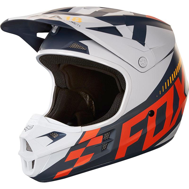 Fox - 2018 V1 Sayak Orange ECE шлем, оранжевый