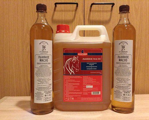 Льняное масло 1 л и 5 л. Богатырские корма