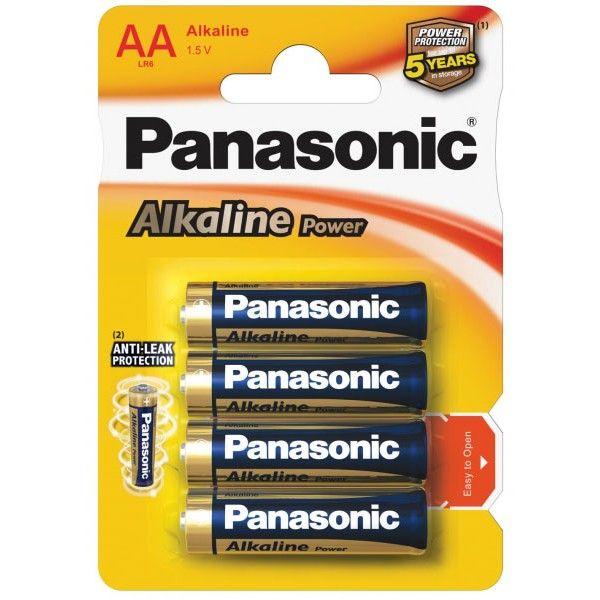 Panasonic батарейки АА (пальчиковые) Alkaline 4шт