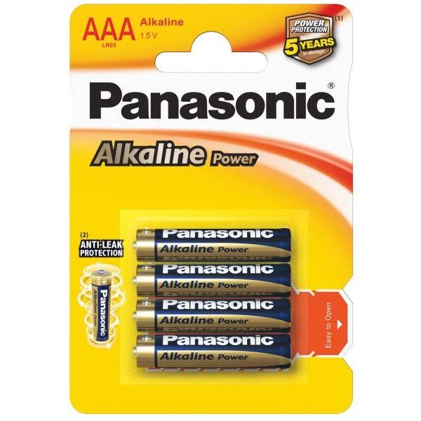 Panasonic батарейки ААA (мизинчиковые) Alkaline 4шт