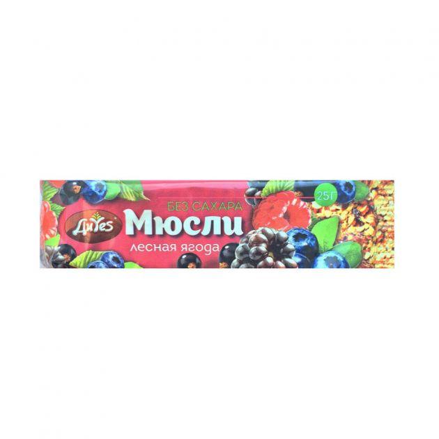 Батончик Диес мюсли лесная ягода без сахара 25г
