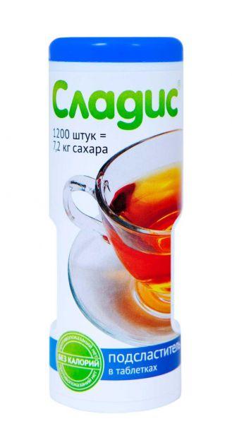 Заменитель сахара Сладис 1200 таб. 74,4г к/к Россия