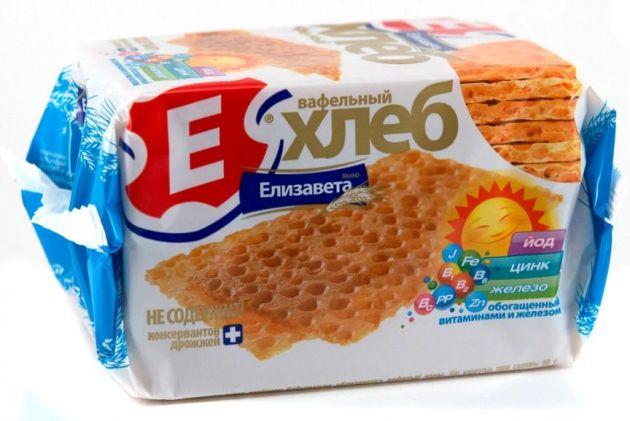 Хлебцы Елизавета вафельные витаминизированные с железом 80г