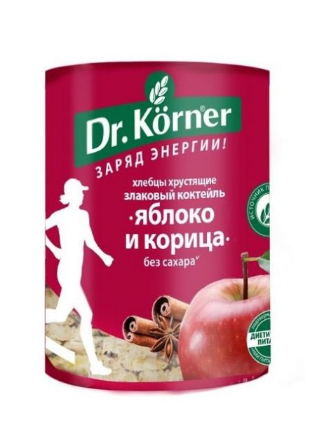Хлебцы Д.Кернер Злаковый коктейль яблочный с корицей 90г