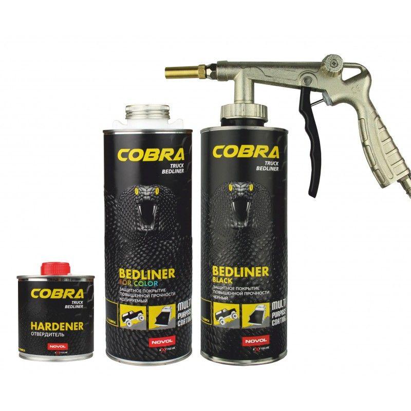 NOVOL COBRA колеруемый Защитное 2К ПУ покрытие повышенной прочности (комплект), объем 600мл. + 200мл.