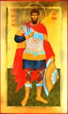 Феодор Тирон (рукописная икона)