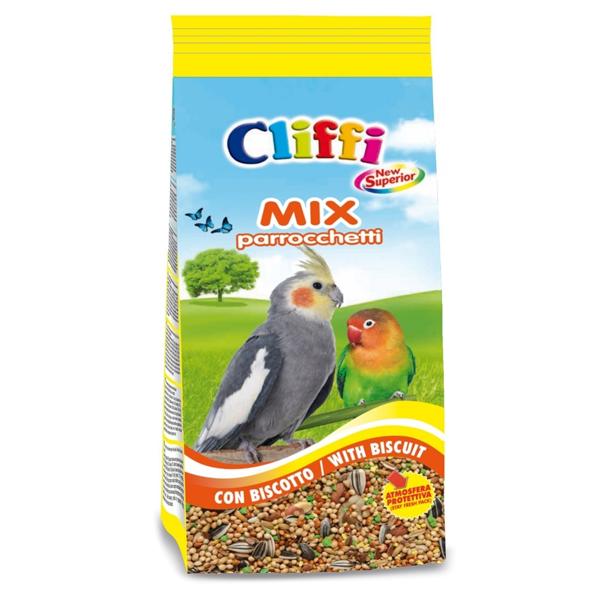Корм Cliffi Смесь отборных семян с бисквитом для длиннохвостых попугаев 1кг