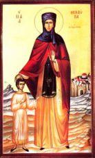 Феодора Александрийская (Младшая)  (рукописная икона)