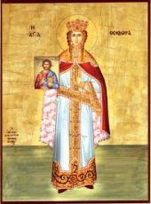 Феодора Греческая (рукописная икона)