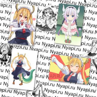Наклейки по аниме Дракон-горничная госпожи Кобаяши / Kobayashi-san Chi no Maid Dragon Stickers