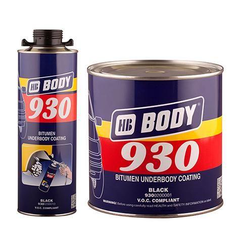 HB Body Антикор 930 черный, объем 1кг.