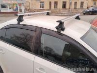 Багажник на крышу Volkswagen Jetta A6, Атлант, крыловидные дуги, опора Е