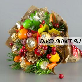 """Новогодний букет из конфет №678 """"Новогоднее шоу"""""""