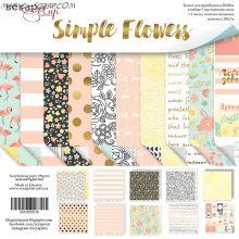 "Набор двусторонней бумаги 20х20см от Scrapmir ""Simple Flowers"""