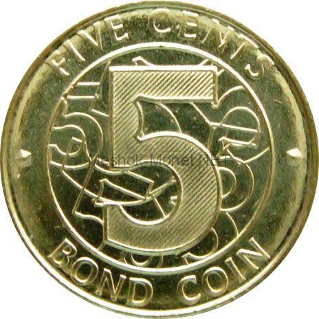 Зимбабве 5 центов 2014 г.