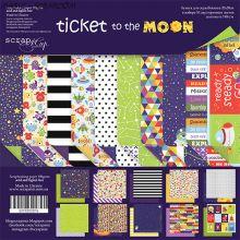 "Набор двусторонней бумаги 20х20см от Scrapmir ""Ticket to the Moon"""