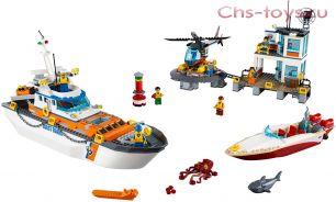 Конструктор LELE City Штаб береговой охраны 39054 (Аналог LEGO City 60167) 834 дет