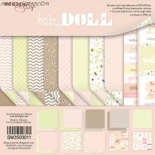 "Набор двусторонней бумаги 30х30см от Scrapmir ""Doll Baby"""