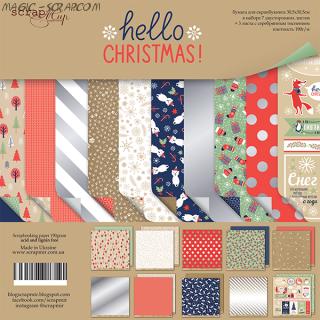 "Набор двусторонней бумаги 30х30см от Scrapmir ""Hello Christmas"""