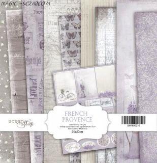 "Набор односторонней бумаги 20х20см от Scrapmir ""French Provence"""