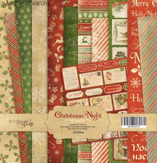 """Набор односторонней бумаги 20х20см от Scrapmir """"Christmas Night"""""""