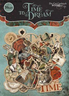 """Набор высечек для скрапбукинга 39шт от Scrapmir """"Time to Dream"""""""