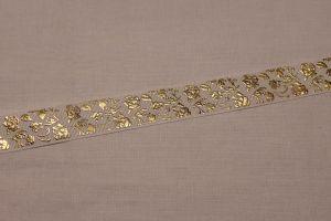 Лента репсовая с рисунком, ширина 22 мм, длина 10 метров цвет: белый, Арт. ЛР5617-1