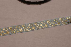 Лента репсовая с рисунком, ширина 22 мм, длина 10 метров цвет: светло-голубой, Арт. ЛР5617-2