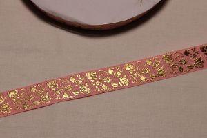 Лента репсовая с рисунком, ширина 22 мм, длина 10 метров цвет: светло-розовый, Арт. ЛР5617-3