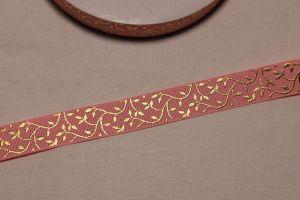 Лента репсовая с рисунком, ширина 22 мм, длина 10 метров цвет: светло-розовый, Арт. ЛР5622-1