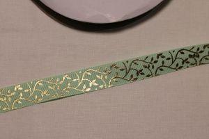 Лента репсовая с рисунком, ширина 22 мм, длина 10 метров цвет: светло-зеленый, Арт. ЛР5622-2