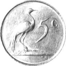 ЮАР 5 центов 1982 г.