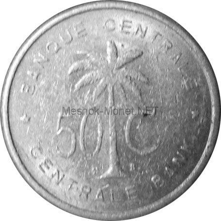 Конго 50 сентим 1955 г.