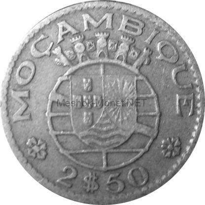 Мозамбик 2,5 эскудо 1954 г.