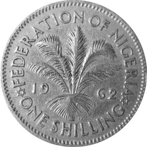 Нигерия 1 шиллинг 1959 г.