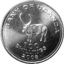 Уганда 100 шиллингов 2015 г.