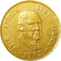 ЮАР 1 цент 1982 г.