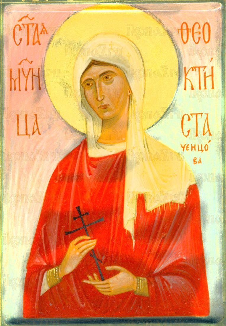 Феоктиста Калужская (рукописная икона)