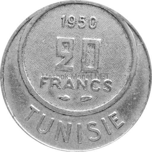 Тунис 20 франков 1950 г.