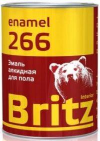 Эмаль для пола Britz ПФ-266 0.9кг красно-коричневая
