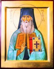 Феофан Затворник  (рукописная икона)