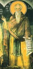 Феофан Никейский (рукописная икона)