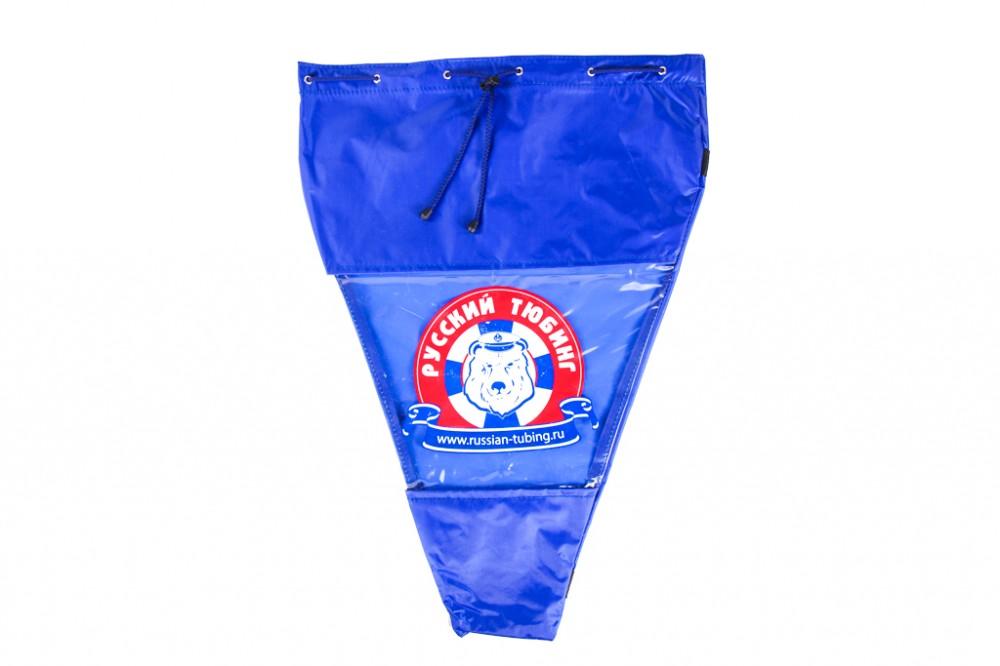 Фирменная сумка для хранения тюбинга васильковая